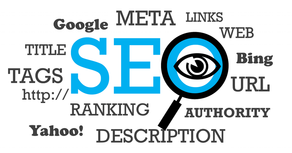 The word SEO surrounded by its factors